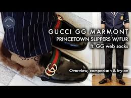 gucci gg marmont princetown slippers w