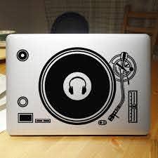 Dj Technics Deck Record Player Laptop Sticker For Apple Macbook Decal Air Pro Retina 11 12 13 15 Computer Mi Notebook Decal Sticker For Apple Macbook Laptop Stickernotebook Decals Aliexpress