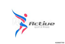 sport fitness winner chion man logo