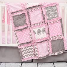gray elephant crib comforter