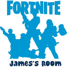 Fortnite Video Game Characters Customized Wall Decal Custom Vinyl Wall Art Personalized Name Baby Girls Boys Kids Bedroom Wall Decal Room Decor Wall Stickers Decoration Size 20x20 Inch