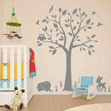 Amazon Com Tree Nursery Animal Wall Decals With Owls Elephant Deer Birds Living Room Home Decal Bed Baby Room Wall Decals Best Decor For Kids Room Birds Wall Stickers Arts Crafts