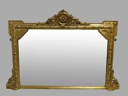 gilt overmantle mirror