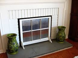 fireplace screen using a window sash
