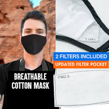 Face Mask with Filter Pocket ...