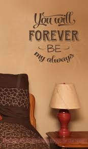 Forever My Always Wall Lettering Wall Decal Vinyl Stickers Love Quotes Wall Decals Vinyl Wall Decals Letter Wall