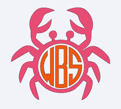 Crab Beach Vacation Beach Decal Summer Decal Summer Vinyl Iron On Crab Monogram Summer Time Decal M Beach Monogram Summer Decal Cricut Projects Vinyl