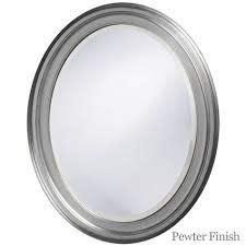 oval framed bathroom mirror