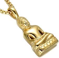 stainless steel buddha pendant