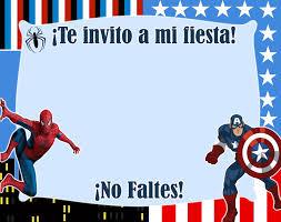 Creaciones Friducha Superheroes Invitaciones