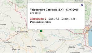 Terremoto in Sicilia oggi, giovedì 31 luglio 2019: scossa M 2.0 ...