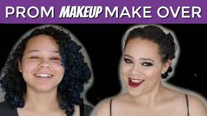 grwm prom hair and makeup tutorial on