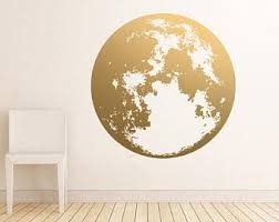 Moon Wall Decal Etsy