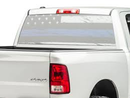 Sec10 Ram 1500 Perforated Real Flag Rear Window Decal Blue Line R107877 02 21 Ram 1500