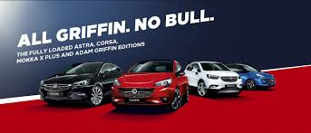 Vauxhall Astra, Corsa, Mokka X Plus and ADAM Griffin Editions. All Griffin.  No Bull.