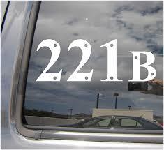 Amazon Com Right Now Decals 221b Sherlock Holmes Baker Street Cars Trucks Moped Helmet Hard Hat Auto Automotive Craft Laptop Vinyl Decal Store Window Wall Sticker 10003 Home Kitchen