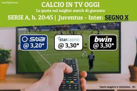 Calcio in tv oggi: le partite in diretta stasera