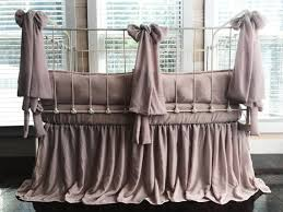 velvet blush pink crib bedding set