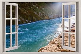Sea 3d Window View Wall Decal Home Decor Removable Wall Sticker Art Mural Ebay Sticker Wall Art Removable Wall Stickers Window View