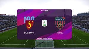 PES 2020   Salernitana vs Cosenza - Serie B   25/01/2020