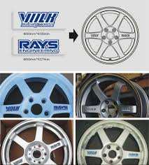 Aliauto Car Styling Volk Rays Car Rims Sticker And Decal Waterproof Motorcycle Wheels Accessories For Audi Skoda Toyota Peugeot Car Rim Stickers Rim Stickeraccessories For Audi Aliexpress