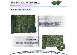 6ft X 8ft Ivy Leaf Decorative Fence Screen Windscreen4less