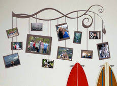 Photo Frame Branch Beautiful Wall Decals