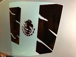 Mexican Flag For Subaru Wrx Sti Tattered Rear Window Vinyl Etsy