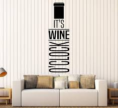 Vinyl Wall Decal Wine Quote Bottle Alcohol Bar Restaurant Decor Sticke Wallstickers4you