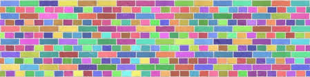 brick rainbow stone wallpaper wall mural