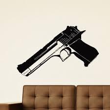 Shop Pistol Handgun Wearpon Vinyl Wall Art Decal Sticker Overstock 10642662