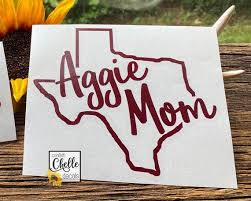 Aggie Mom Decal Sticker Yeti Decal Car Decal Laptop Etsy