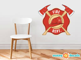 Fire Department Emblem Fabric Wall Decal Sunny Decals