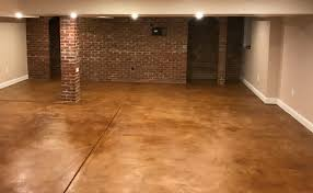 a guide to stained concrete basement floors