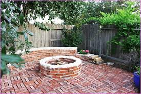 brick patio with fire pit fire pit