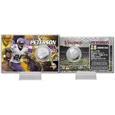 Adrian Peterson Minnesota Vikings Silver Coin Card