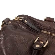 gucci dark brown guccissima leather joy