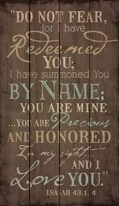 Buy Isaiah 43 1 Wall Art Fear Not For I Have Redeemed You I Have Called You By Name You Are Mine Creation Vinyls In Cheap Price On Alibaba Com