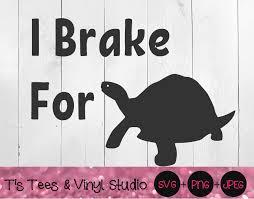I Brake For Turtles Svg Car Decal Png Car Decal Svg Turtle Svg Sav By T S Tees Vinyl Studio Thehungryjpeg Com