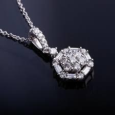 baguette diamond flower cer