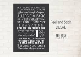 Motivational Wall Decal Red Barn Canvas