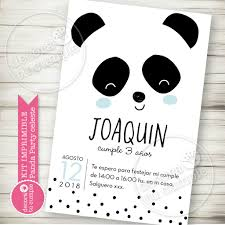 Kit Imprimible Osito Panda Party Celeste Candy Bar Invitacion Digital