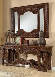 traditional hd 430 console table in brown