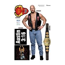 Stone Cold Steve Austin Fathead 5 Piece Wall Decals Wwe Us