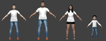 makehuman software to the 3d models
