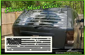 American Flag Suv Back Window Decal Universal Fit Grand Cherokee Crv Toyota Ebay