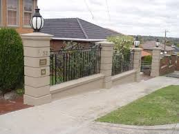 Footing For Cement Block Fence Post Concrete Patio Designs Concrete Yard Fence Design