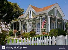 House White Picket Fence Cape High Resolution Stock Photography And Images Alamy