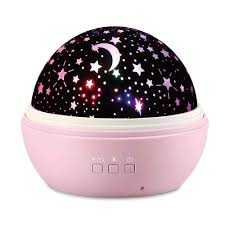 Amazon Com Kids Star Night Projector Lamp Baby Nursery Night Light Desk Lamp With 8 Light Color Usb 360 Degree Rotating Star Projector Gifts For Baby Kid Children Bedroom Birthday Party Christmas