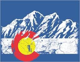 Colorado Flag Sticker Rocky Mountains Vintage Decal Mountain Ink Lab Colorado Art Colorado Flag Colorado Native
